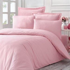 Постельное Белье Victoria Stripe Sateen Line Розовый 200×220