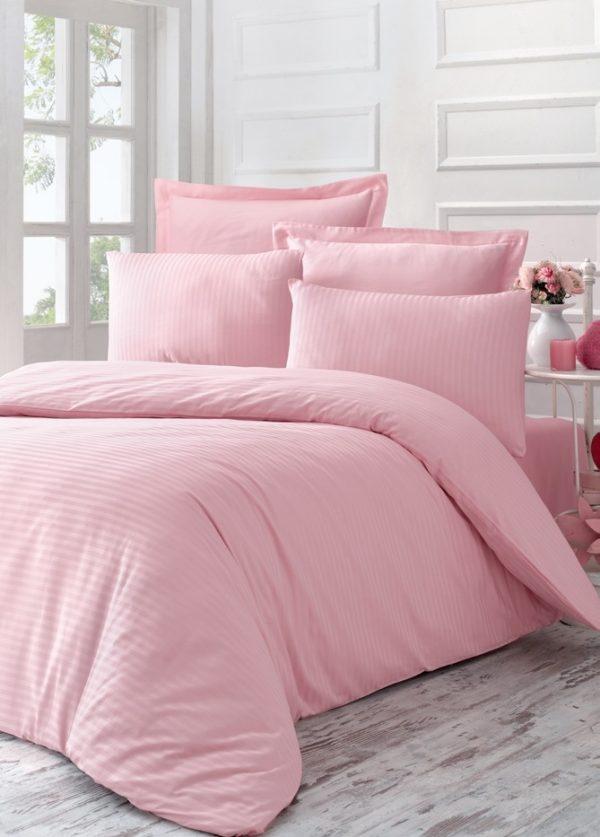 купить Постельное Белье Victoria Stripe Sateen Line Розовый (2200000541109)