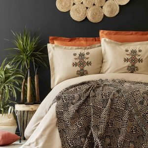 Постельное белье с пледом Karaca Home Aztec tarcin 2019-1 200×220