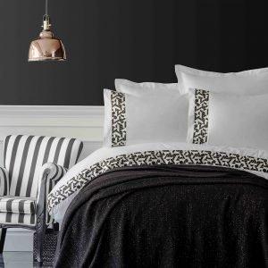 Постельное белье с пледом Karaca Home Blaze siyah 2019-1 200×220