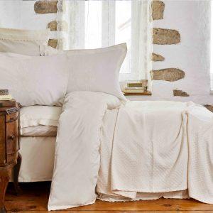 Постельное белье с пледом Karaca Home Julita bej 2018-2 200×220