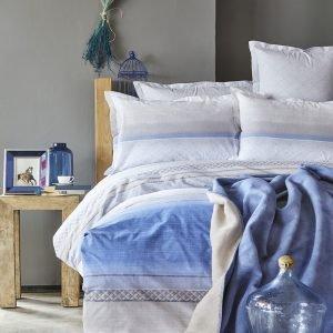 Постельное белье с пледом Karaca Home Lapis indigo 2018-1 200×220