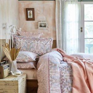 Постельное белье с пледом Karaca Home Luminda somon 2018-1 200×220