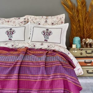 Постельное белье с пледом Karaca Home Maresa 2018-1 200×220