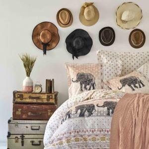 Постельное белье с пледом Karaca Home Sandy blush 2019-1 200x220 (sv-2000022194365) Бежевый|Кофейный фото
