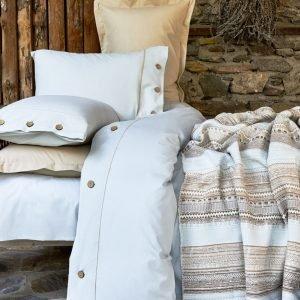 Постельное белье с пледом Karaca Home Woodley mavi 2018-1 200×220