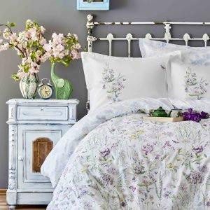 Постельное белье с покрывалом пике Karaca Home Elizia 2018-2 200×220