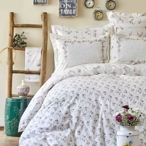 Постельное белье с покрывалом пике Karaca Home Lela somon 2018-2 200×220