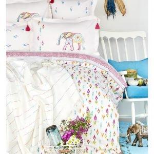 Постельное белье с покрывалом пике Karaca Home Nora 2017-2 multi jacquard 160×220