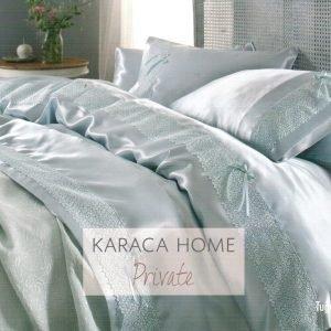 Постельное белье с покрывалом пике Karaca Home Tugce su yesil 2016 200×220