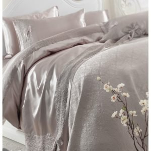 Постельное белье с покрывалом пике Karaca Home Tugce vizon 2018-2 200×220