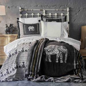 Постельное белье с покрывалом + плед Karaca Home Alenis 2019-1 200×220