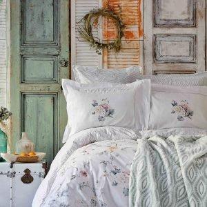 Постельное белье с покрывалом Karaca Home Luminosa somon 2019-1 200×220