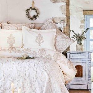 Постельное белье с покрывалом Karaca Home Matteo bej 2018-2 200×220
