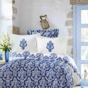 Постельное белье с покрывалом Karaca Home Matteo indigo 2018-2 200×220