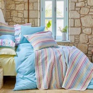 Постельное белье с покрывалом Karaca Home Mood ZigZag 2018-2 200×220