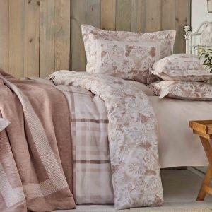 Постельное белье с покрывалом Karaca Home Plaid pudra 2019-1 200×220