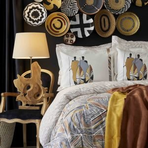 Постельное белье с покрывалом Karaca Home Ruan kiremit 2019-1 200×220