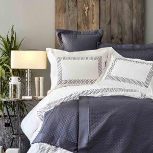 Постельное белье с покрывалом Karaca Home Sophia gri 2019-1 200×220