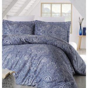 Постельное белье Altinbasak сатин люкс easter mavi 200×220