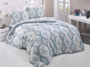 Постельное белье Aurora Home ранфорс 805 V2 200x220 (sv-2000022093316) Голубой|Серый фото