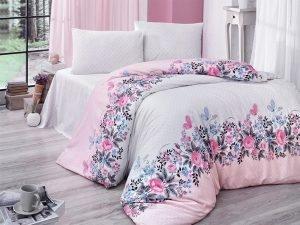 Постельное белье Aurora Home ранфорс 901 V1 200x220 (sv-2000022093330) Розовый фото