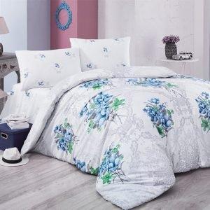 Постельное белье Aurora Home ранфорс 903 V2 200x220 (sv-2000022093279) Голубой фото