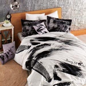 Постельное белье Beverly Hills Polo Club ранфорс BHPC 022 Black 200×220