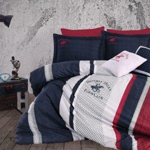 Постельное белье Beverly Hills Polo Club ранфорс BHPC 023 Dark Blue 200×220