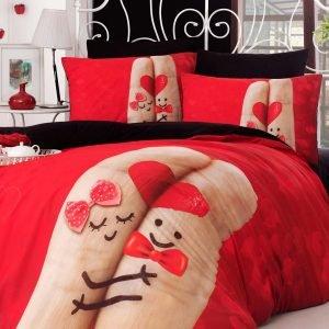 Постельное белье Charlot Home Finger kirmizy ранфорс 200x220 (sv-2000022188043) Красный фото