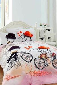 Постельное белье Charlot Home Humy pembe ранфорс 200x220 (sv-2000022188050) Розовый фото