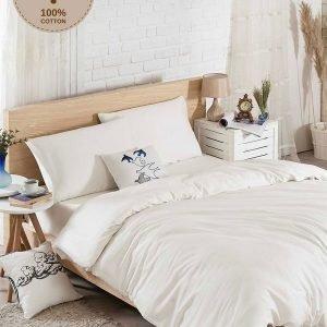 Постельное белье Eponj Home D.Boya beyaz ранфорс 200×220