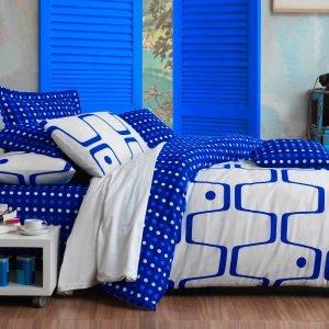 Постельное белье Eponj Home Geo Mavi ранфорс 200×220