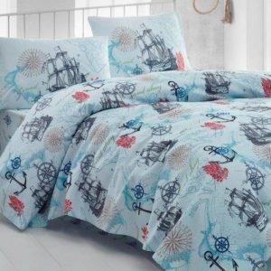 Постельное белье Eponj Home Marine Turkuaz ранфорс 200×220