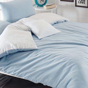 Постельное белье Eponj Home Paint Mix A.mavi-Beyaz ранфорс 200×220