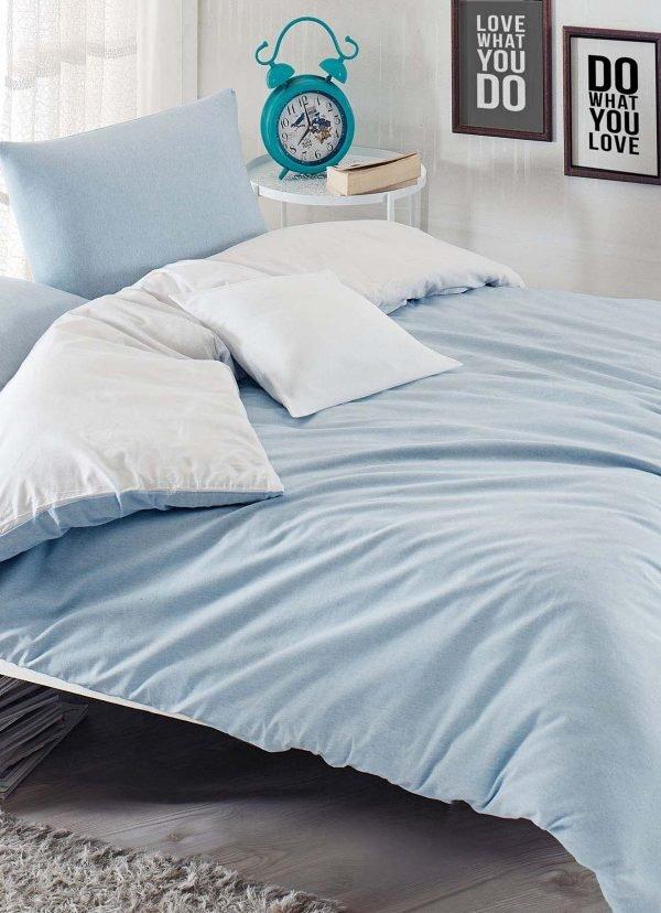 Постельное белье Eponj Home Paint Mix A.mavi-Beyaz ранфорс 200x220 (sv-2000022189279) Голубой фото
