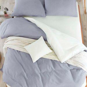 Постельное белье Eponj Home Paint Mix K.Gri-Krem ранфорс 200×220