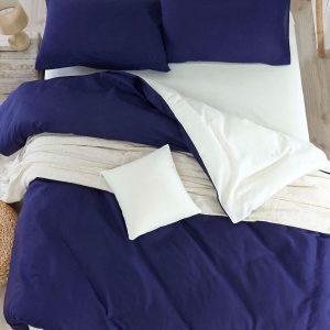 Постельное белье Eponj Home Paint Mix Lacivert-Krem ранфорс 200×220