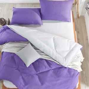 Постельное белье Eponj Home Paint Mix UltraViolet-A.Gri ранфорс 200×220