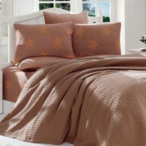 Постельное белье Eponj Home Paint Pike BigStar kahve 200x235 (sv-2000022178556) Коричневый фото