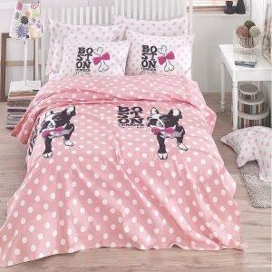 Постельное белье Eponj Home Pike Boston pembe 200x235 (sv-2000022071994) Розовый фото