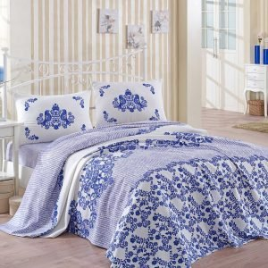 Постельное белье Eponj Home Pike Huma mavi 200×235