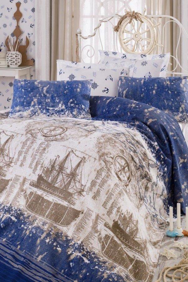 Постельное белье Eponj Home Pike Pusula k.mavi 200×235