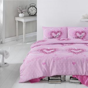 Постельное белье Eponj Home Sueno Pembe ранфорс 200x220 (sv-2000008463249) Розовый фото