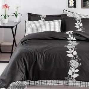 Постельное белье First Choice сатин artemis siyah 200×220