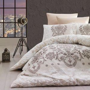 купить Постельное белье First Choice de luxe ранфорс dalyan ekru (m014889)