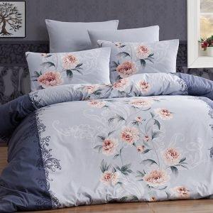 Постельное белье First Choice de luxe ранфорс karen lacivert 200×220