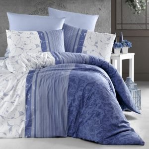 Постельное белье First Choice de luxe ранфорс peitra lacivert 200×220