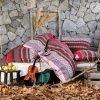 Постельное белье Irya Flanel Merida 200x220 (sv-2000022142625) Бордовый фото