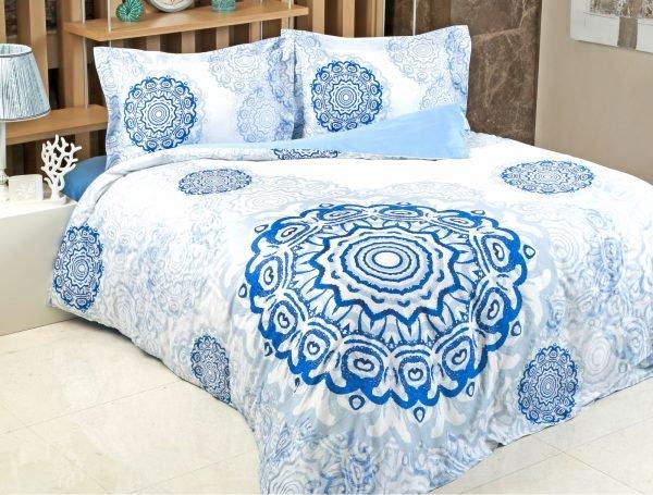 Постельное белье Irya Saten Digital Tile 200x220 (sv-2000022119894) Голубой фото
